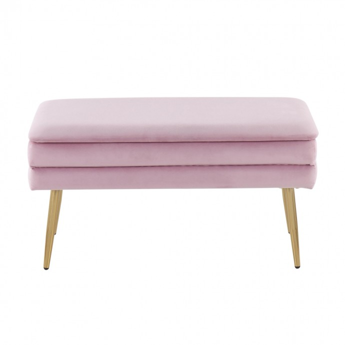 Contemporary Counter Stool in Gold and Green Velvet