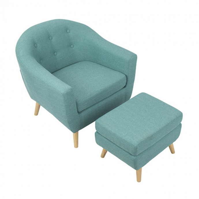 Mid-Century Modern Counter Stool In Cherry And White Cecina