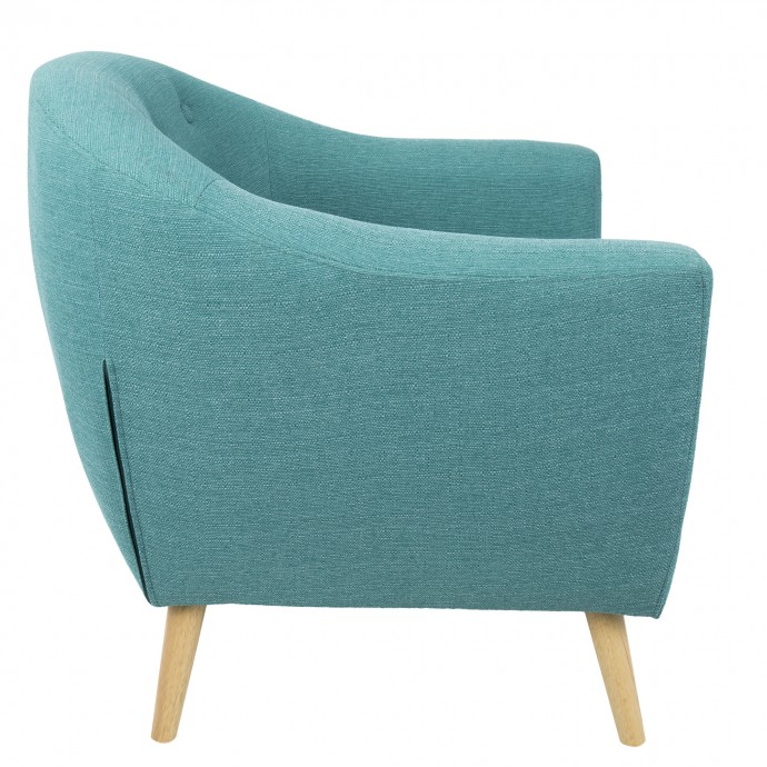 Mid-century Modern Bar Stool in Walnut and Brown Cosi
