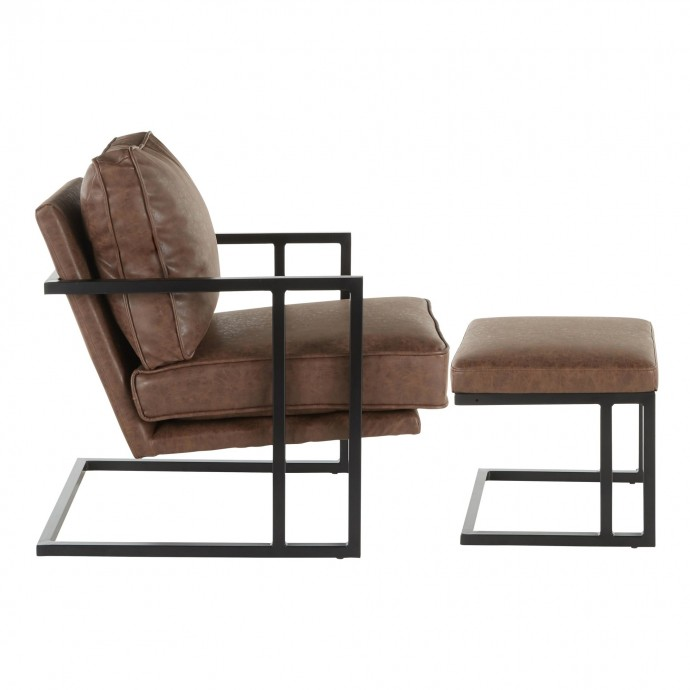 Mid-century Modern Bar Stool in Walnut and Grey Cosini