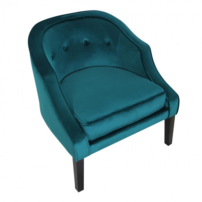 Mid-Century Modern Barstool in Walnut Wood and Grey Fabric Curvini