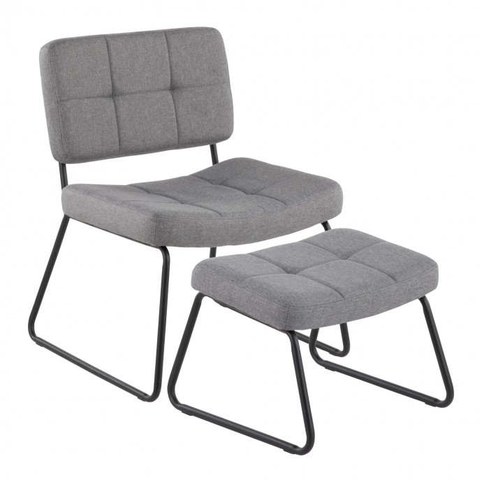 Mid-century Modern Adjustable Bar Stool in Walnut and Cream Curvo