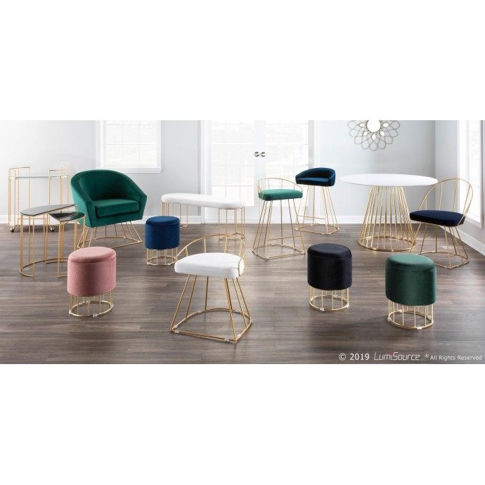 Contemporary Adjustable Light Grey Barstool Daniella