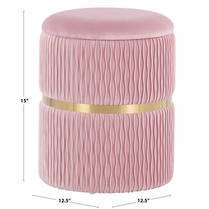 Mid-Century Modern Counter Stool in Walnut and Cream Elisa