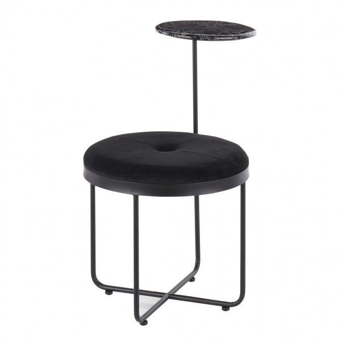 Contemporary Bar Stool in Antique Finish Emery