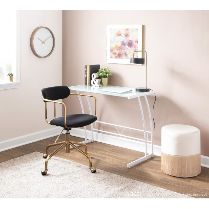 Mid-century Modern Bar Stool in Walnut and Blue Fabrizzi
