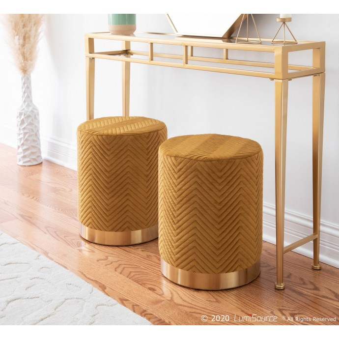 Mid-century Modern Brown Bar Stool Fiore