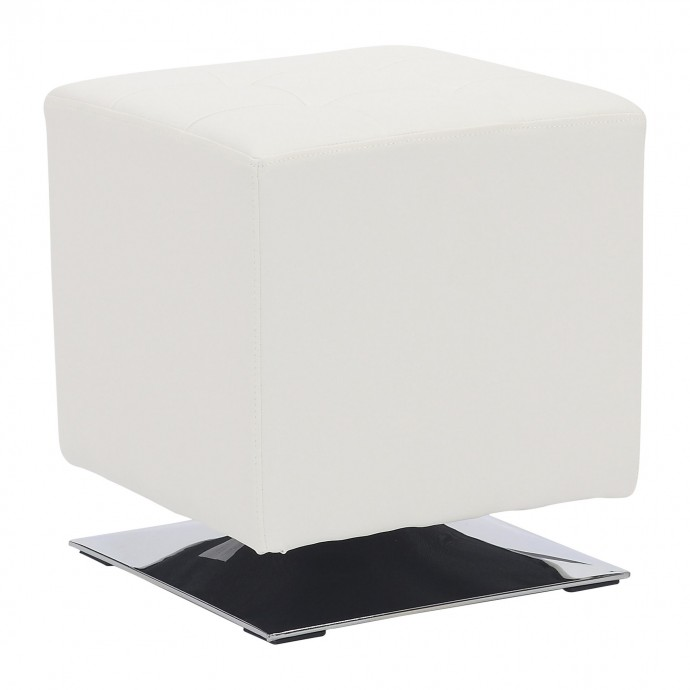 Mid-century Modern White Bar Stool Grotto