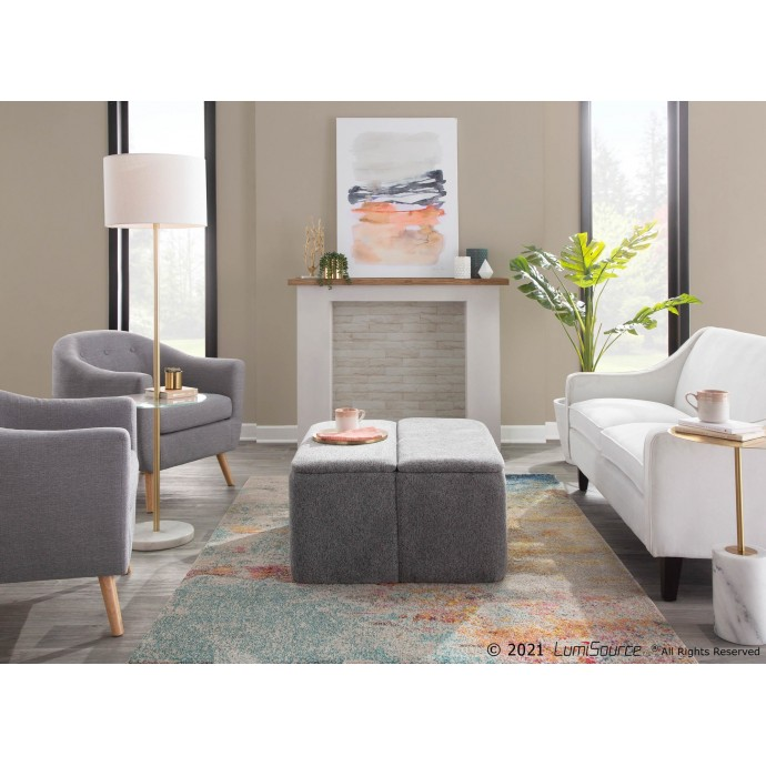 Mid-Century Modern Adjustable Bar Stool in Walnut and Cream Lombardi