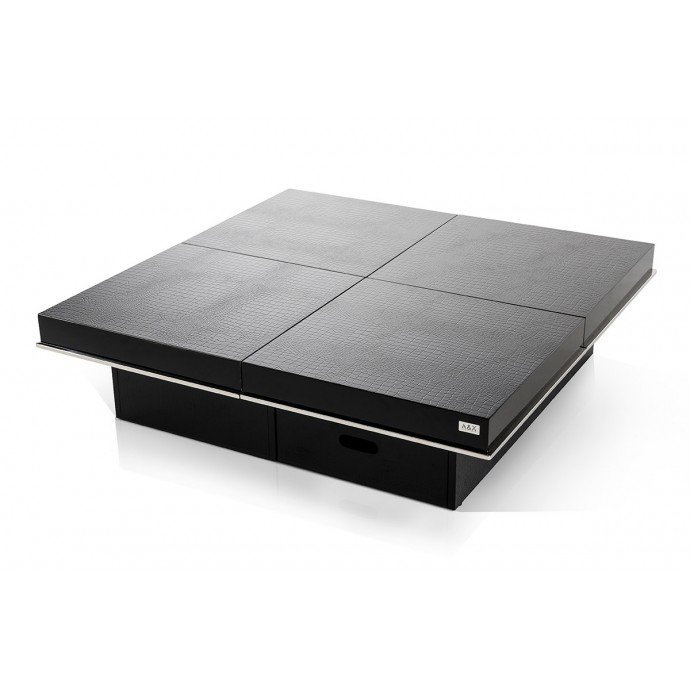 Set of 2 Contemporary Counter Stools in Walnut and Grey Mara LumiSource - 1