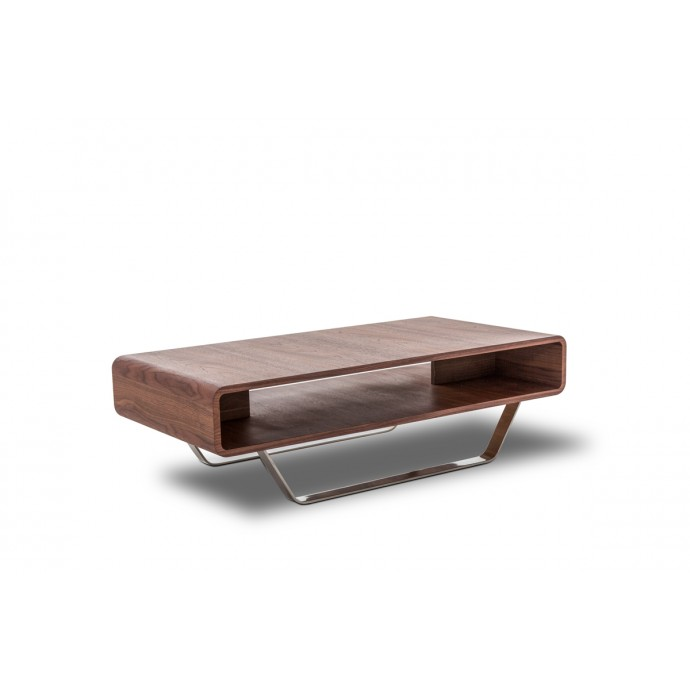 Set of 2 Contemporary Counter Stools in Walnut and White Mara LumiSource - 4