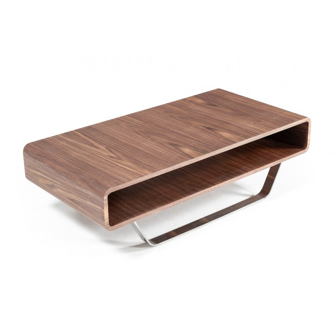 Set of 2 Contemporary Counter Stools in Walnut and White Mara LumiSource - 5