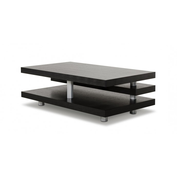 Mid-Century Modern Adjustable Bar stool in Walnut and Charcoal Fabric Maya LumiSource - 3