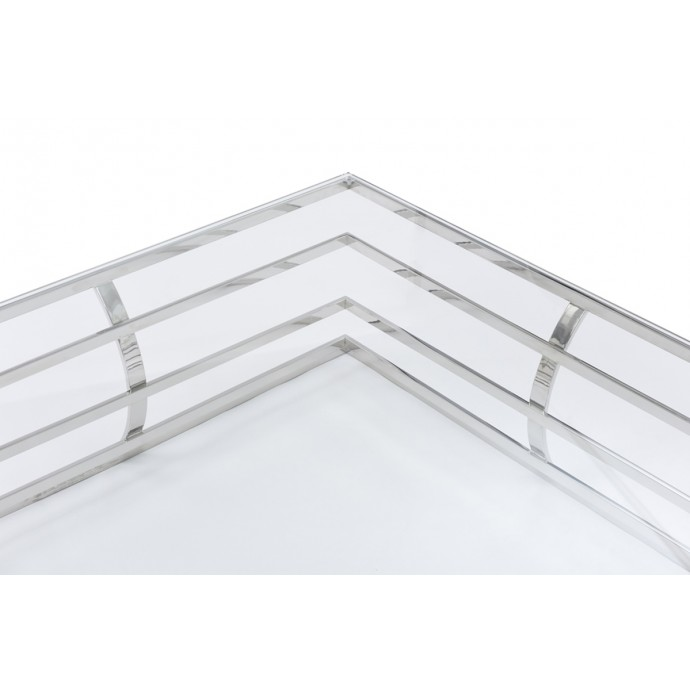 Set of 2 Industrial Stackable Bar stools with Vintage White Frame and Espresso Wood Oregon LumiSource - 5