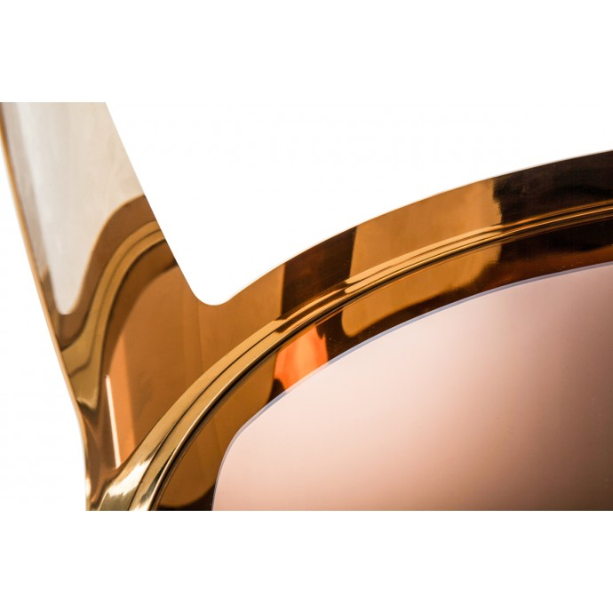 Set of 2 Industrial Stackable Counter Stools with White Frame and Espresso Wood Oregon LumiSource - 5