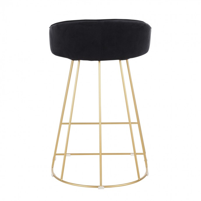Modern Round Glass Coffee Table with Chromed Steel Base Stance