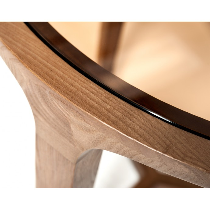 Set of 2 Industrial High Back Counter Stools with Antique Frame and Espresso Wood Oregon LumiSource - 6