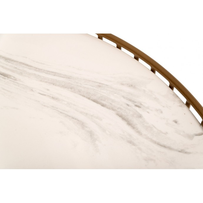 Mid-Century Modern Adjustable Bar stool in Walnut and Cream Pino LumiSource - 4