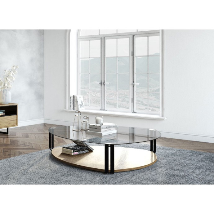 Mid-Century Modern Adjustable Bar stool in Walnut and Cream Pino LumiSource - 5