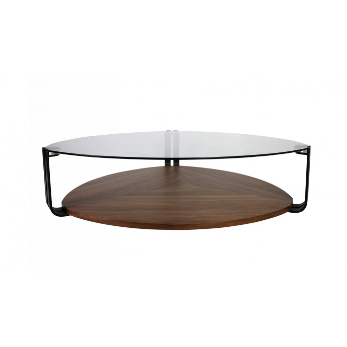 Mid-Century Modern Adjustable Bar stool in Walnut and Cream Pino LumiSource - 7