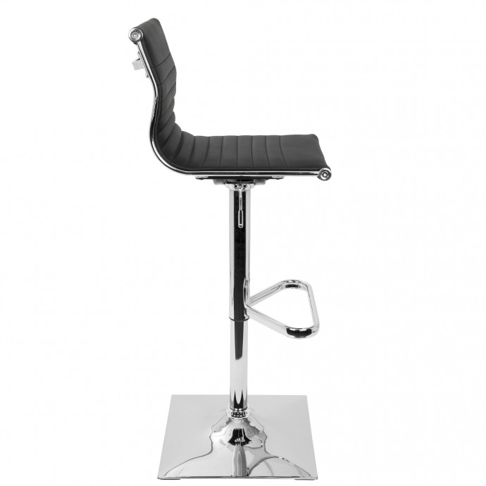 Mid-Century Modern Barstool in Blue Fabric and Walnut Wood Serena