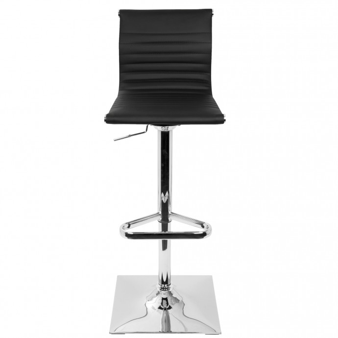 Mid-Century Modern Adjustable Bar stool in Walnut and Brown Pino