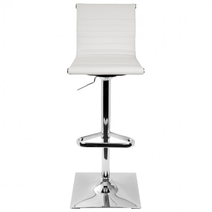 Mid-Century Modern Barstool in Grey Fabric and Walnut Wood Serena LumiSource - 3