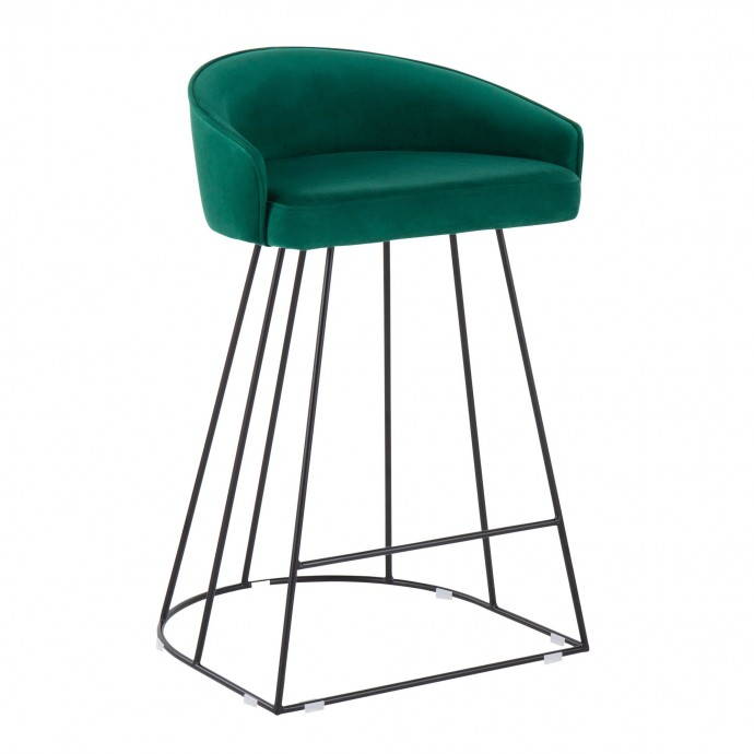 Modern Oval Walnut Side Table Park West