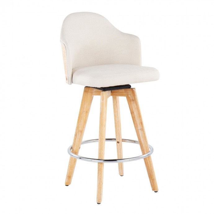 Modern Brown Leather Lounge Chair Berger