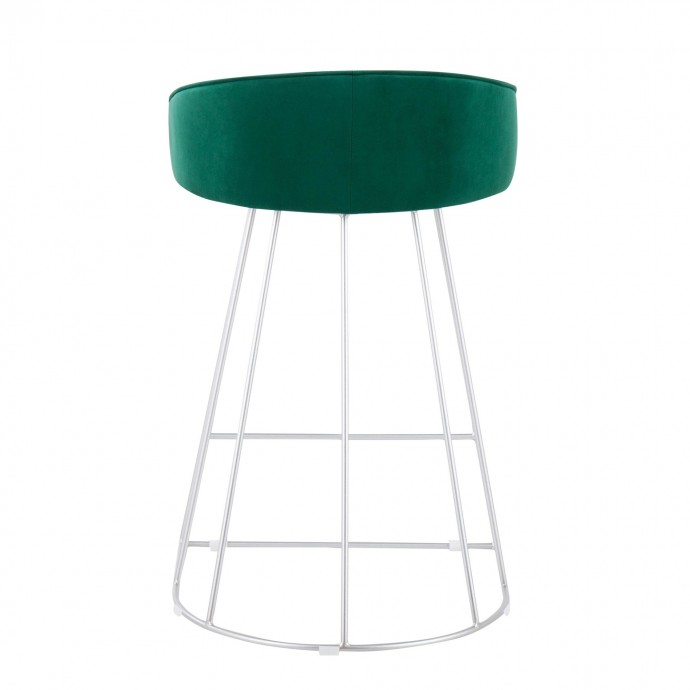 Modern veneer end table with storage and bar Modena
