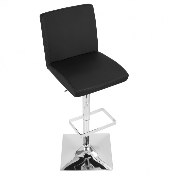 Modern chrome and glass round end table Stark