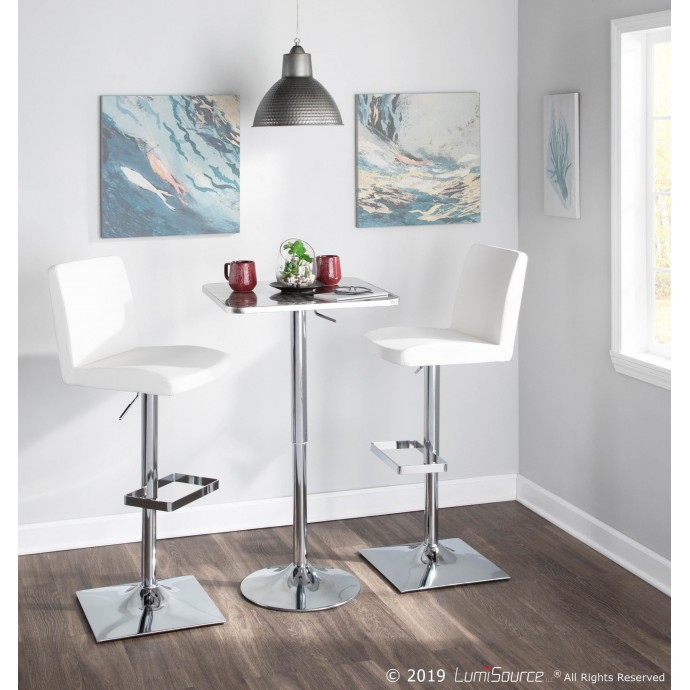 Modern White Extendable Coffee Table with Storage Desire