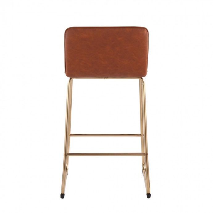 Modern grey leather sectional with chaise Alba