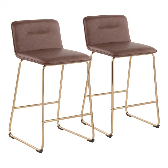 Modern grey leather sectional with recliner Allegra