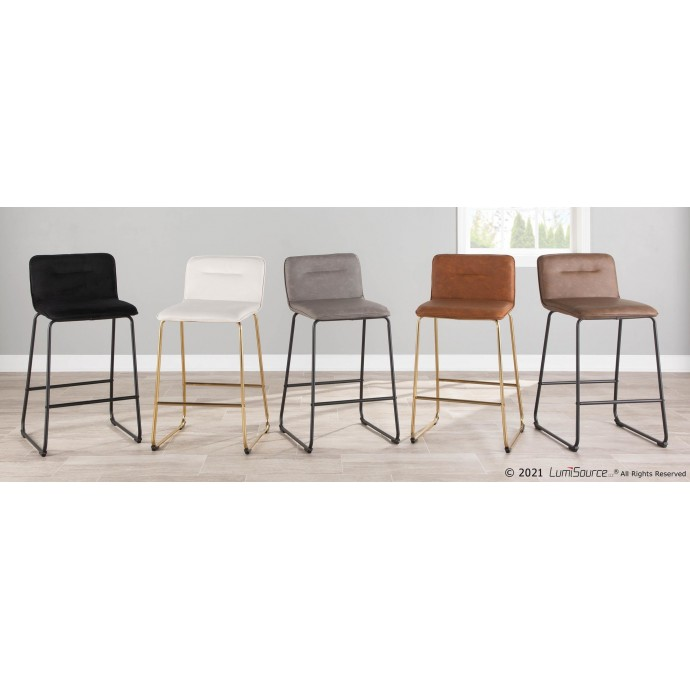 Modern grey leather sectional with recliner Ariana
