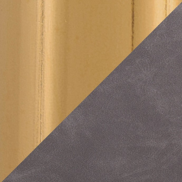 Modern grey leather sectional with recliner Serena