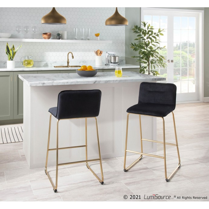 Modern white leather sectional Alice