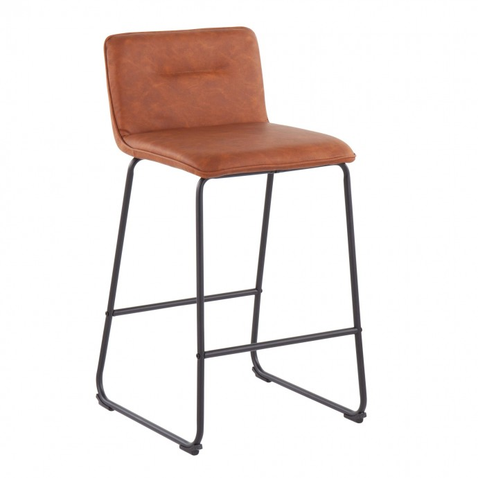 Modern Glass and Chrome Side Table Eileen