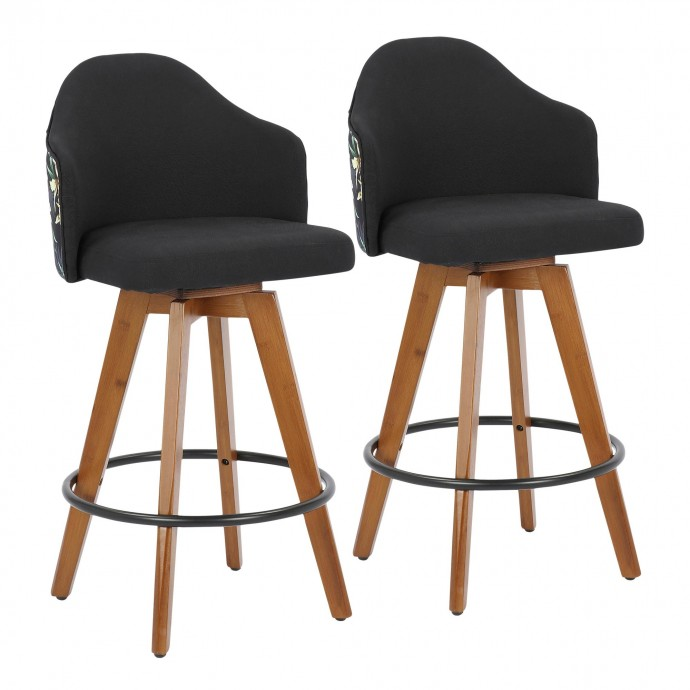 Contemporary transforming round end table with storage Kuji