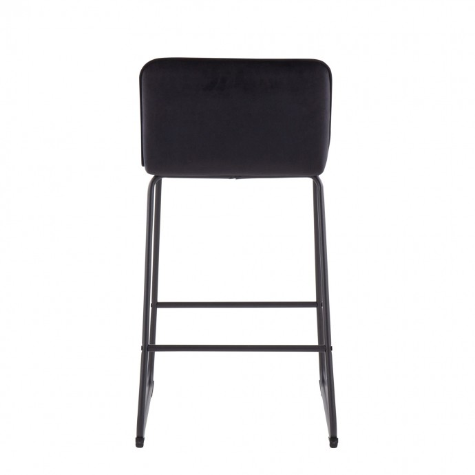Modern Blue Fabric Lounge Chair with ottoman Wall Street