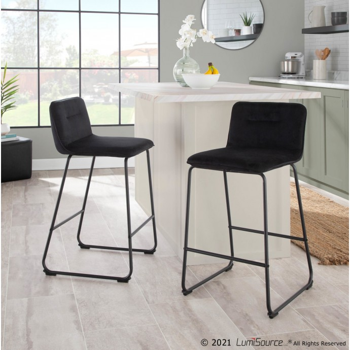 Modern Brown Fabric Lounge Chair with ottoman Wall Street