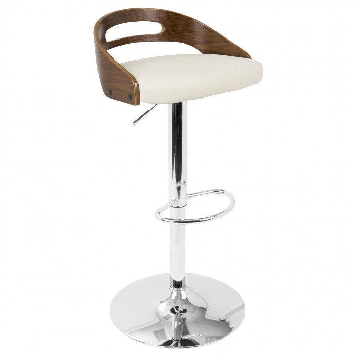 Modern Orange Fabric Lounge Chair with ottoman Wall Street