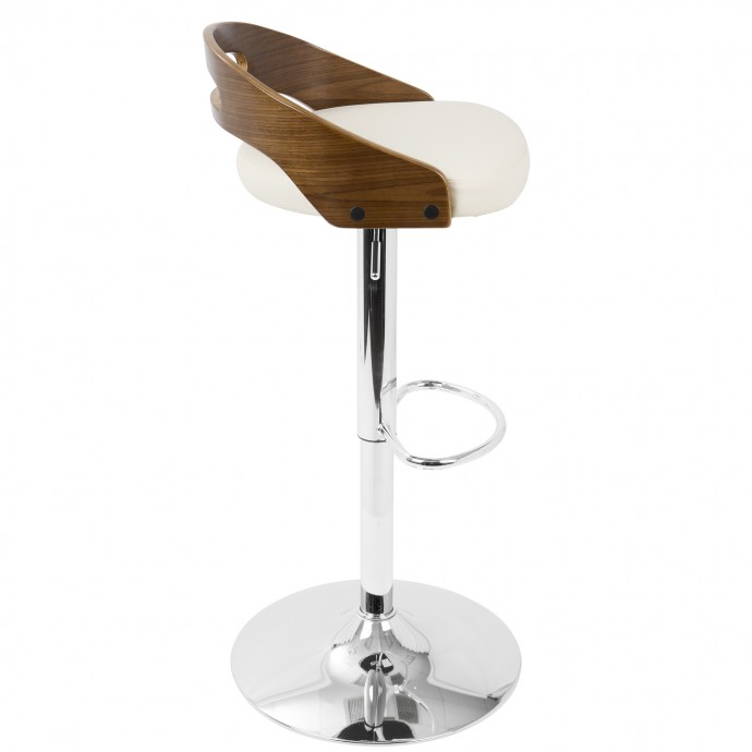 Modern Orange Tweed Lounge Chair with ottoman Wall Street