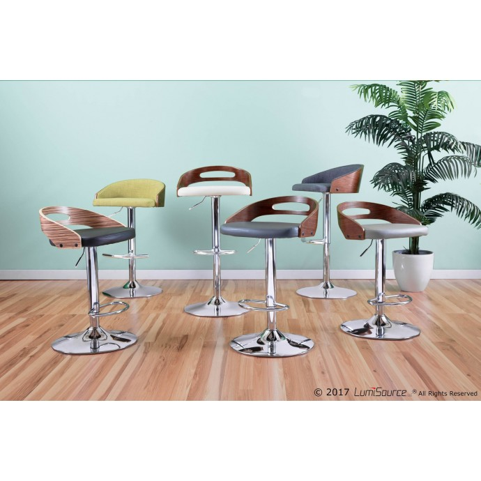 Modern Red Fabric Lounge Chair Wall Street