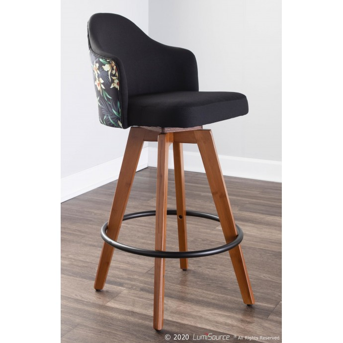 Contemporary white lacquer square end table Midori