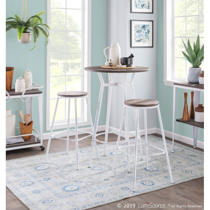 Modern round natural plywood coffee table Karlstad