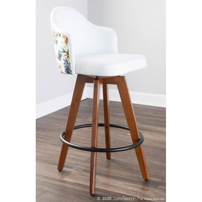 Modern walnut rectangular floating coffee table Ako
