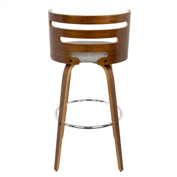 Modern dark gray fabric lounge chair and ottoman Classico